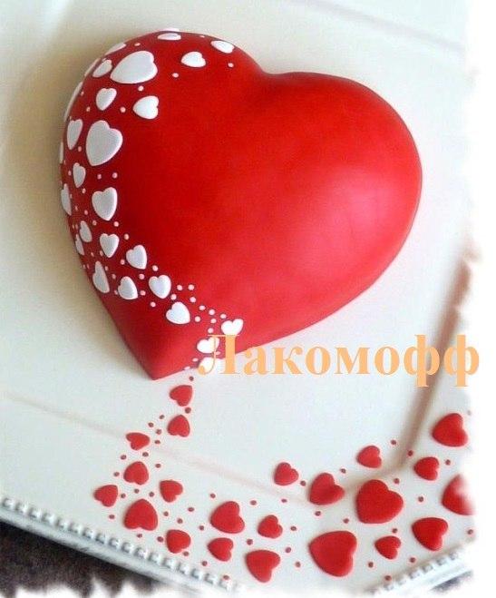торти серцем фото